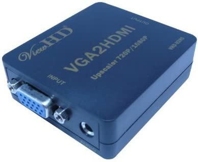 ViewHD Video Converter (VGA to HDMI Mini Converter with 720P /1080P Scaler) | VHD-V2HS