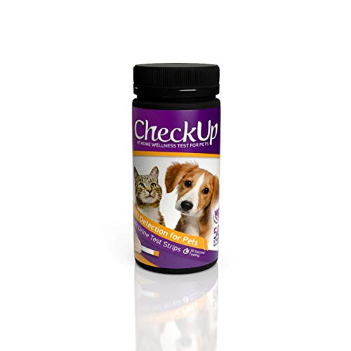 KIT4CAT CheckUp pH Urine Testing Strips for Cats and Dogs - Detection of Urinary Tract Infection x 50