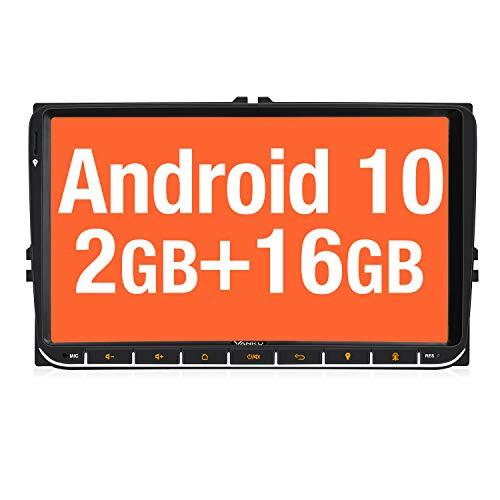 Vanku autoradio Android 10.0 da 9 pollici per autoradio VW con sistema di navigazione supporta Bluetooth DAB + USB, WiFi 4G MicroSD 2 Din
