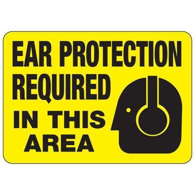 Vivityobert Warnschild, für Gehörschutz, Metall, Gefahrenhinweis, Warnschild, Warnschild, Warnschild, Hausdekoration, Hof, 20,3 x 30,5 cm