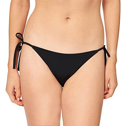 Calvin Klein Cheeky String Side Tie Bikini Braguita, Negro (Pvh Black Beh), 44 (Talla del Fabricante: Large) (Pack de 2) para Mujer