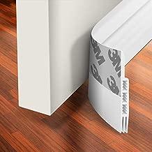 Holikme Door Draft Stopper Under Door Draft Blocker Insulator Door Sweep Weather Stripping Noise Stopper Strong Adhesive White 39