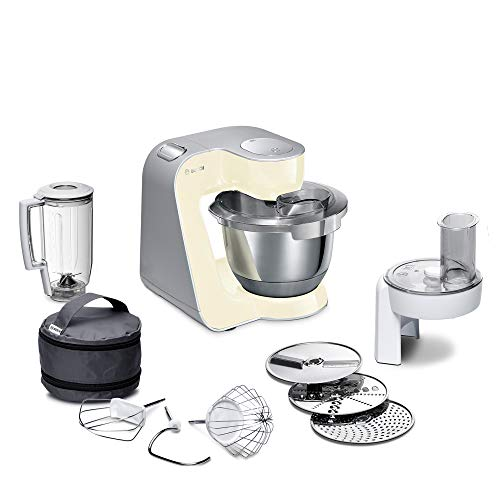 Bosch Electroménager MUM58920 Kitchen Machine, 1000 W, 3.9 liters, Vanille/Argent
