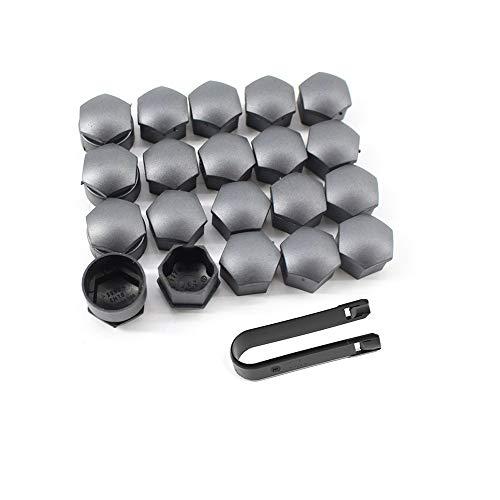 L-Yune, perno 20 Unids 17 mm Ruedas de Coche Tuercas de Plástico con Herramientas de Remoción de Tapones de Rosca forVW for AUDI A1 A2 A3 A4 321601173A Estilo de Coche