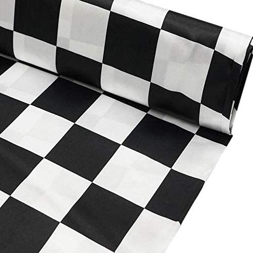 BalsaCircle 54-Inch Wide New Free Shipping x 10 Yards Checkerboard Fashionable Black and White