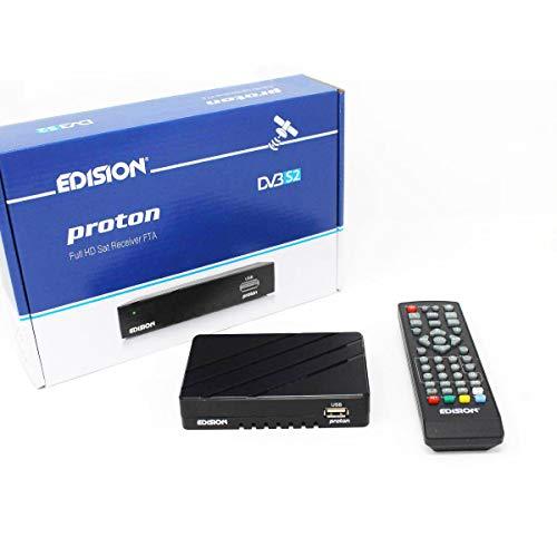 Edison Free TV (Lite v2) Full HD Free To Air Satellite Receiver, PVR Via...
