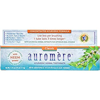 Auromere Classic Licorice Toothpaste 4.16 oz Pack of 6