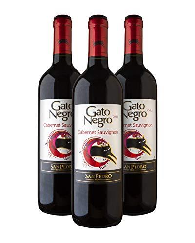 Gato Negro Cabernet Sauvignon Vino Tinto - Chile - Pack de 3 Bot. 75 cl