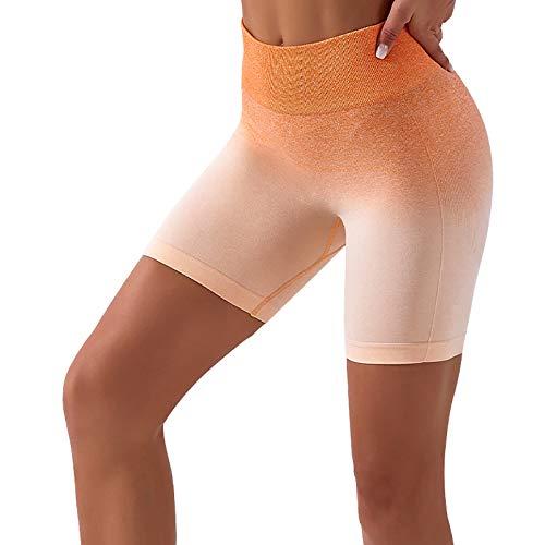 LMDGO Damen Tie-Dye Seamless Workout Yoga Laufshorts Hohe Taille Bauchkontrolle Radhose Sommer Hot Pants