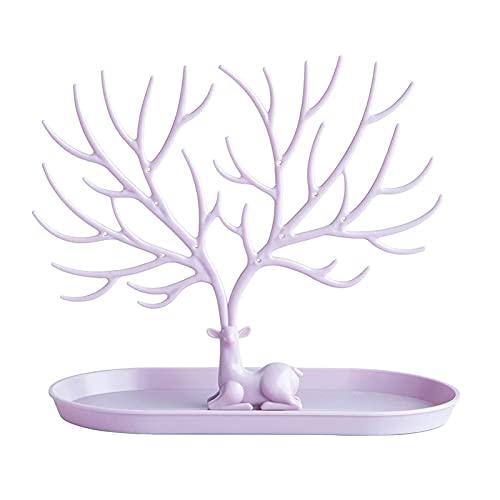 Árbol Tenedor de la llave Ornamentos de almacenamiento Organizador de la joyería del soporte de la bandeja de la bandeja de la bandeja de la bandeja de la pared para la pared Decorativo Blanco Cinturó