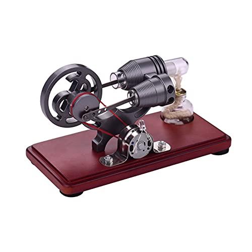 Modelo de Motor Stirling de Aire Caliente, Máquina Generadora de Electricidad A Vapor con LED de Colores, Kits de Juguetes Modelo Educativos para Construir para Niños