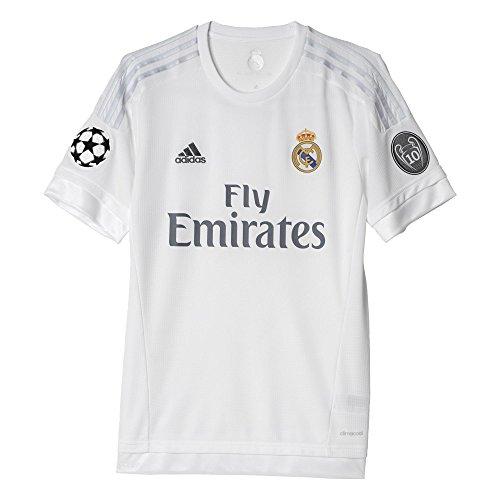 adidas Herren Ausweichtrikot Real H Jersey UCL Kurzarm Heimtrikot, White/Clear Grey, XL