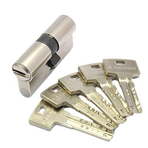 ABUS Bravus.2500 MX Magnet Doppelzylinder mit Not- und Gefahrenfunktion 45/40 inkl. 5 Schlüssel - Wendeschlüssel-Sicherheitszylinder - Sicherungskarte - Modulbauweise - Patentschutz bis 2037