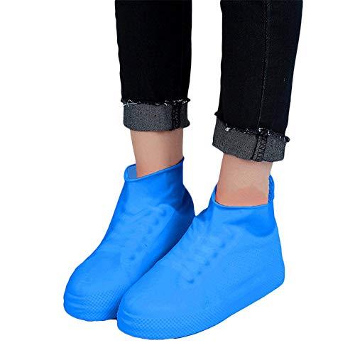 10 pièces Couvre-Chaussures antidérapant Couvre-Chaussures isolé polluant Portable Pluie Lourde Unisexe Bleu Taille S