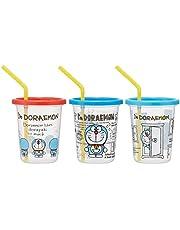 スケーター ストロー付き タンブラー 3個 ドラえもん I'm Doraemon 日本製 320ml SIH3ST