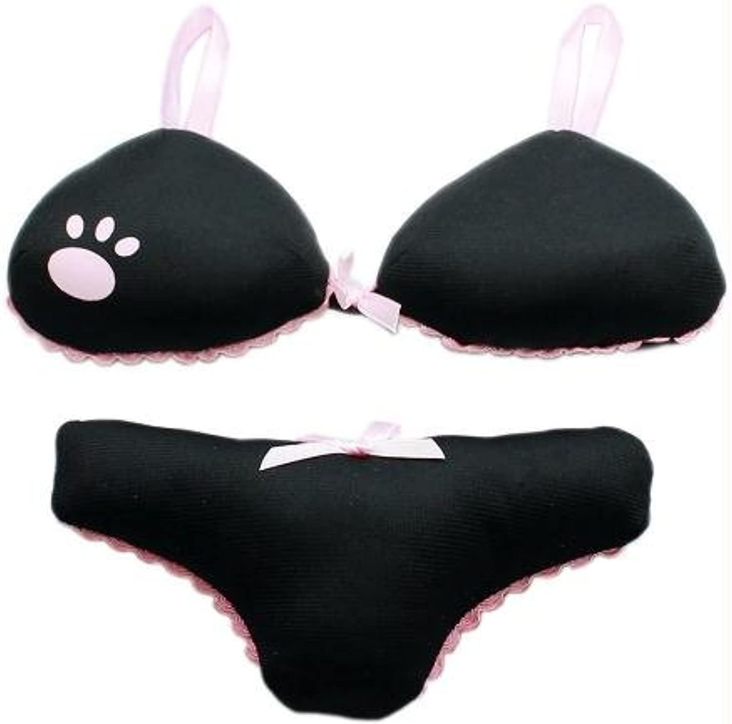 Big Girl Panties and Bra Set Squeaky Dog Toys Black by Mirage Pet Products
