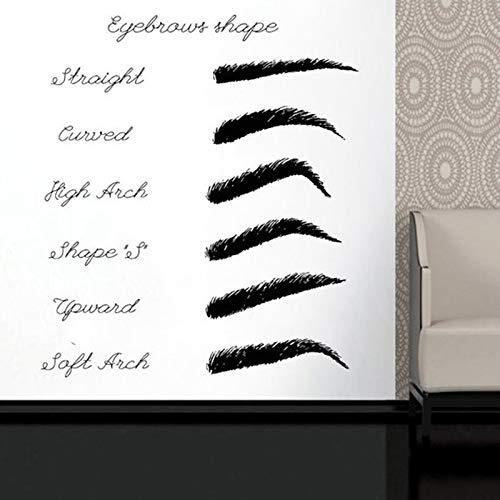 guijiumai Brauen Schönheitssalon Wandtattoo Make Up Fenster Aufkleber Frau Gesicht Wimpern Wimpern Augenbrauen Wohnkultur Schlafzimmer Deacals42X48CM