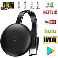 Stick De TV para El Nuevo Google Chromecast 3 para Netflix Youtube WiFi Pantalla HDMI Dongle Inalámbrica Miracast para Android iOS PC,WiFi Aparato,para La Conexión De WiFi