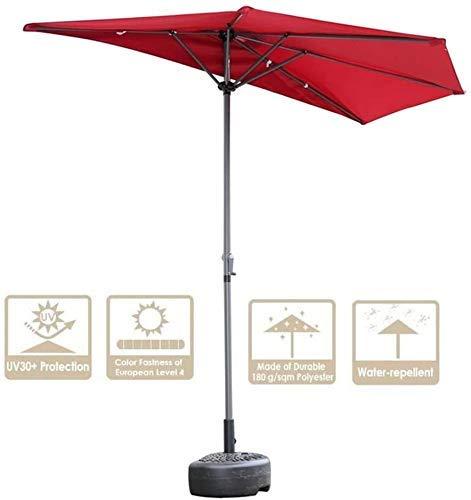 LFDHSF Garten Sonnenschirme 3m (10ft) Halber Regenschirm für Balkon, um die Sonne zu blockieren und auch um den Regen zu stoppen, Sonnenschirm Halbkreisförmig