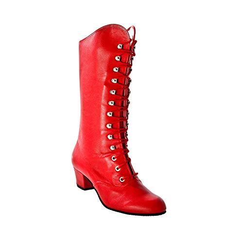 Koch uomini Carnevale stivali Majorette, pelle in rosso, rosso, 41 EU