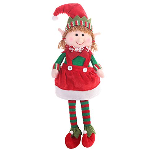 EisEyen Peluche di Elf di Natale Giocattolo di Natale di Peluche Elfo Decorano i Regali di Festa in Camera