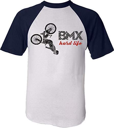 Maglietta da Bicicletta per Bambini : BMX Hard Life - Idea Regalo Bambino Bambina - T-Shirt Ciclista - Camicia Bici MTB Velo Mountain-Bike - Sport Maglia Ciclismo (134 146)
