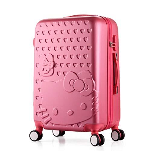 fish 2 pcs/Set Hermosa Bolsa de cosméticos Hello Kitty de 14 Pulgadas 20 24 Estudiantes de 28 Pulgadas Estuche para Maletas de Viaje una Mujer Maleta con Ruedas, 1 PCS