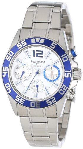 Viceroy Reloj Deportivo Real Madrid 432844-05 para Mujer, Acero Inoxidable, Doble Hora y Fecha