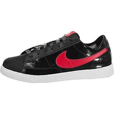 NIKE Mädchen Blazer Low QS (GS) Skate-Schuh 6.5 US 6,5 M US Big Kid Schwarz/Speed ??Rot/Blass Coral