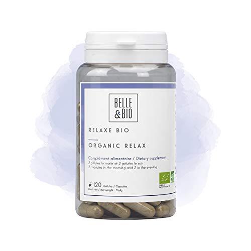 Belle&Bio Relaxe Bio Anti Stress Certifié Bio Par Ecocert Aubépine, Passiflore, Lavande/Valeriane Fabriqué en France