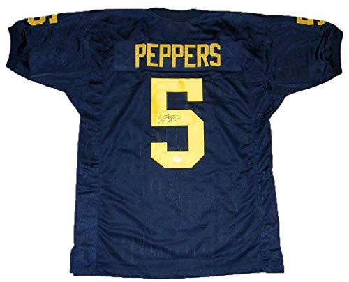 Jabrill Peppers Autographed Signed Signed Michigan Wolverines #5 Navy Jersey JSA