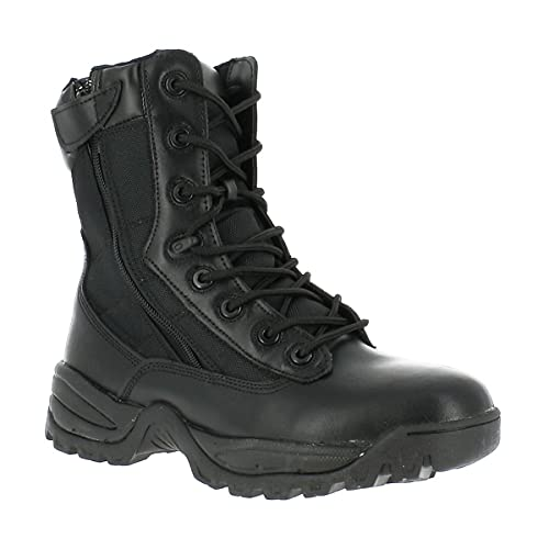 Mil-Tec Botas tácticas con dos cremalleras, color negro, Negro, 43 EU