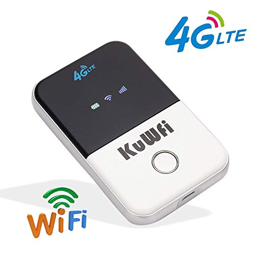 4G Pocket WiFi Router LTE Wireless Unlocked Travel Partner Modem with SIM Card Slot Support LTE FDD B1/B3/B5/B7/B8/B20 Work in Europe Caribbean South America Africa