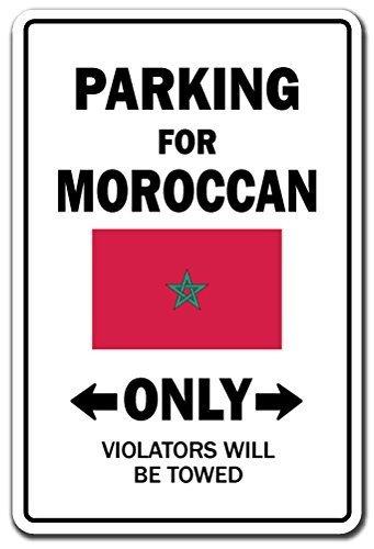 Funny Deko Schilder Parking für marokkanische nur National Pride Schild Flagge Marokko National Pride Love Dekoration Metall Aluminium Zeichen für Garagen, Wohnzimmer