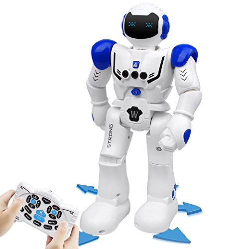 電動ロボット インテリジェン おもちゃ プログラム可能 ジェスチャ制御 リモコンコントロール AUGYMER多機能ロボット 歩く 滑走 音楽 ダンス 人型ロボット