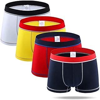 HWOEMX 4pcs/lot New Man Underpants Men's Cotton Boxers Breathable Underwear Men Boxershorts Patchwork Comfortable Boxer