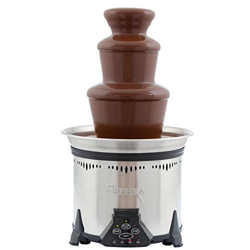 Sephra Elite Chocolate Fountain for Home, Whisper Quiet Motor, Chocolate Fondue Fountain Electric,...