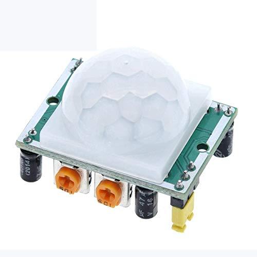 QBLDX HC-SR501 Stellen Sie Das Pyroelektrische IR-Infrarot EIN PIR-Bewegungssensor-Detektormodul Kompatibel Für Arduino Für Himbeer-Pi-Kits
