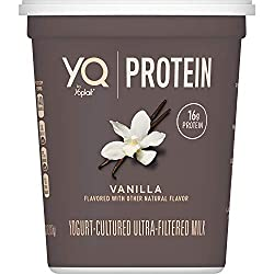 YQ by Yoplait Vanilla Large Size Yogurt Made with Cultured Ultra-Filtered Milk , 26 oz Tub