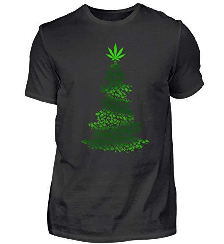 Hanf Marihuana Cannabis Weihnachtsbaum Weihnachten 2018 Gras Rauchen Christmas Geschenk - Herren Shirt