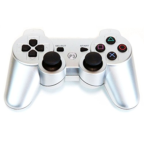 Bowink Wireless Bluetooth Controller For PS3 Double Shock ( Silver )