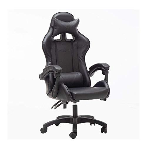N/Z Sedie per Attrezzature quotidiane Scrivania da Ufficio da Gioco Girevole Design ergonomico Resistente con Cuscino e Supporto per la Schiena reclinabile S