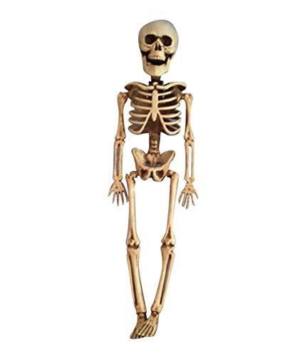 YOUJIA Skelett Mensch Halloween Dekoration Horror Deko Garten Menschliches Skelett Modell Lebensgroße Figuren für Draussen 40CM