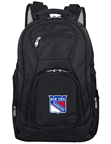 Denco NHL New York Rangers Voyager Laptop Backpack, 19-inches, Black
