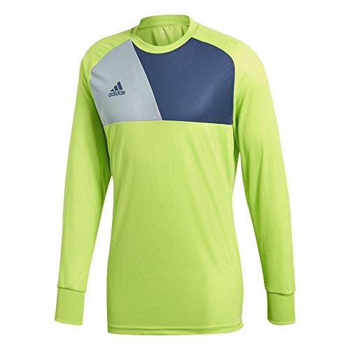 adidas Men's Assista 17 Goalkeeper Jersey, Solar Slime/Night Marine/Light Grey, Large