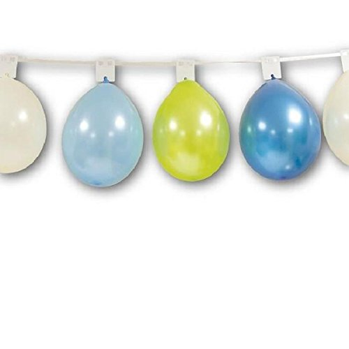 Visiodirect Guirlande Support Coloris Blanc pour 24 Ballons - 8 M
