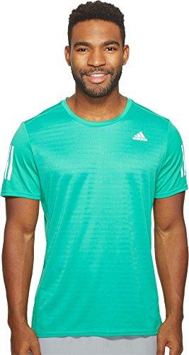 adidas Hombres Camiseta de Manga Corta de Running de Respuesta, Hombre, Core Green