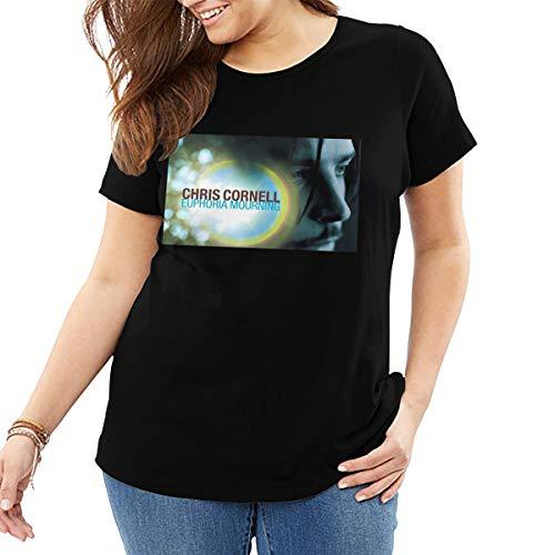 John J Littlejohn Chris Cornell Euphoria Maana Camiseta de algodn Camiseta Tops Casual Street Wear Plus Size T-Shirt