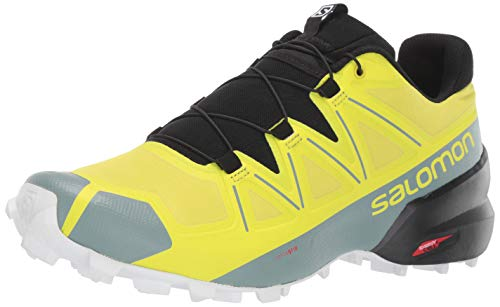 SALOMON Men's Speedcross 5 Trail Running, Sulphur Spring/Black/White, 12 UK