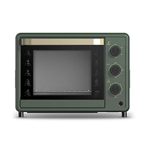 NLRHH Ofen 32L große Kapazitäts-Multi-Layer-Grill präzise Temperaturregelung Back Mini Kleine Elektro-Ofen Multifunktionale (Farbe: Grün) Peng